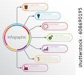 vector infographic templates... | Shutterstock .eps vector #608690195