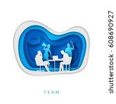 business concept illustration.... | Shutterstock .eps vector #608690927