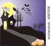 halloween background with bats  ... | Shutterstock .eps vector #6087058