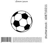 soccer  football  ball icon.... | Shutterstock .eps vector #608710211