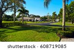 view of the golf resort with... | Shutterstock . vector #608719085