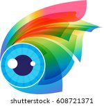 abstract colorful expressive... | Shutterstock .eps vector #608721371