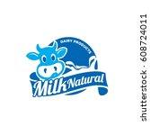 dairy logo | Shutterstock .eps vector #608724011