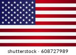 image of american flag  symbol... | Shutterstock . vector #608727989
