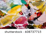 painted abstract background | Shutterstock . vector #608737715