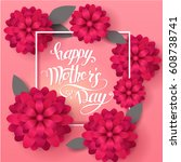 mom's day greeting poster... | Shutterstock .eps vector #608738741