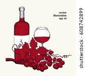 vector grape illustration. can... | Shutterstock .eps vector #608742899