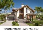 3d rendering of modern cozy... | Shutterstock . vector #608753417