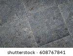 top view of gray concrete... | Shutterstock . vector #608767841