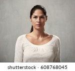 serious girl | Shutterstock . vector #608768045