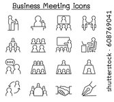 business meeting   conference... | Shutterstock .eps vector #608769041