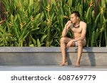 portrait guy or gay   a guy is...   Shutterstock . vector #608769779