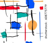 seamless background pattern.... | Shutterstock .eps vector #608775779