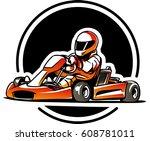 go kart. kart racing | Shutterstock .eps vector #608781011
