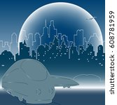 night train. city express | Shutterstock .eps vector #608781959