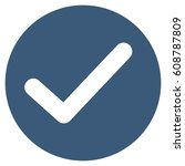 apply vector icon. flat blue...