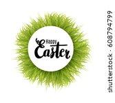 happy easter lettering design... | Shutterstock .eps vector #608794799