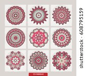 isolated set of beautiful... | Shutterstock .eps vector #608795159
