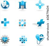 collection of blue medicine and ... | Shutterstock .eps vector #60879604