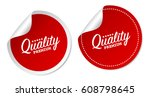 premium quality stickers | Shutterstock .eps vector #608798645