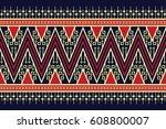 geometric ethnic pattern... | Shutterstock .eps vector #608800007
