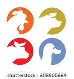 vector illustration of farm... | Shutterstock .eps vector #608800664
