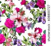 Floral Pattern Photo Collage Seamless - Fine Art prints