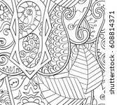 tracery seamless pattern.... | Shutterstock .eps vector #608814371