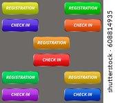 web buttons set. | Shutterstock .eps vector #608814935