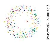 dense watercolor confetti on... | Shutterstock . vector #608815715