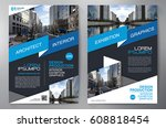 business brochure. flyer design.... | Shutterstock .eps vector #608818454