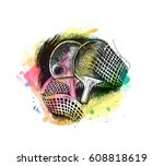 abstract table tennis poster... | Shutterstock .eps vector #608818619