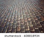 stone pavement. brick walkway | Shutterstock . vector #608818934