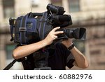 cameraman working in the street | Shutterstock . vector #60882976