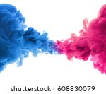 acrylic colors and ink in water.... | Shutterstock . vector #608830079