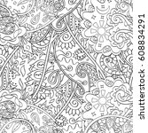 tracery seamless pattern.... | Shutterstock .eps vector #608834291