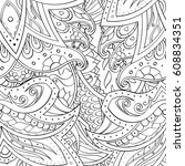 tracery seamless pattern....   Shutterstock .eps vector #608834351
