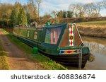 narrow boat mooring on the...