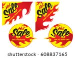 hot sale price offer deal... | Shutterstock .eps vector #608837165