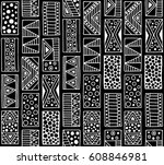 seamless vector pattern. black... | Shutterstock .eps vector #608846981