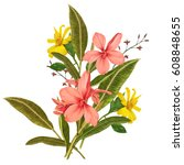 illustration of beautiful... | Shutterstock . vector #608848655