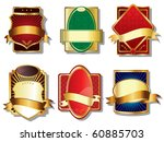 golden labels vector | Shutterstock .eps vector #60885703