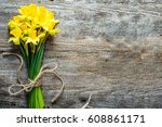 spring background  easter... | Shutterstock . vector #608861171