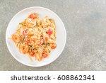delicious spaghetti with... | Shutterstock . vector #608862341