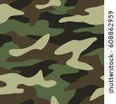 camouflage pattern background... | Shutterstock .eps vector #608862959