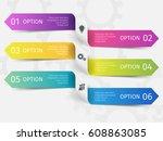 modern ribbons for business... | Shutterstock .eps vector #608863085