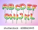 lollipop sweet candy colorful... | Shutterstock .eps vector #608863445