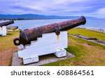 Small photo of 68-pounder cannons installed in 1879 to repel any possible attacks by the Russian navy - Wollongong, Australia