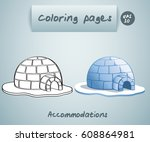 coloring book pages for kids  ... | Shutterstock .eps vector #608864981