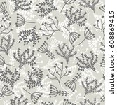 floral stylish background. cute ... | Shutterstock .eps vector #608869415